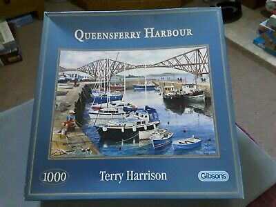 Queensberry Harbour By Terry Harrison 1000 Piece Gibsons Jigsaw Puzzle • 6.99£