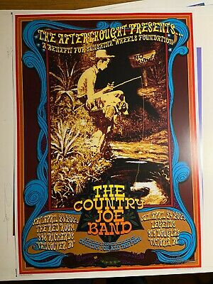 $49.99 • Buy Concert Poster Country Joe And The Fish Band 2005 Signed 60s Artist Bob Masse