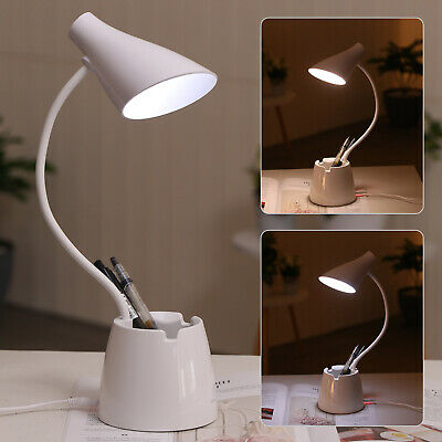 AU13.39 • Buy 3 Mode Touch LED Reading Lamp Desk Bedside Study Table Dimmable Night Light USB