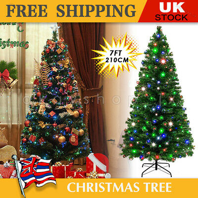 £45.99 • Buy 7FT Christmas Tree Xmas Holiday Indoor Metal Stand Home Decor Fibre Optic LED