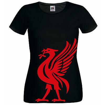 £11.95 • Buy GTS - Red Liver Bird YNWA Liverpool Scouse Scouser Black Lady Fit T-Shirt