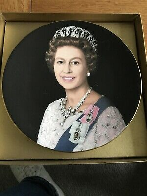 Crown Bone China Plate Silver Jubilee Queen Elizabeth 11 1977 RO 9 • 2.50£