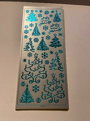 £0.99 • Buy Christmas Peel Off Stickers In Various Designs & Colours