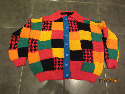Harry Styles Patchwork Hand Knit Cardigan • 22£
