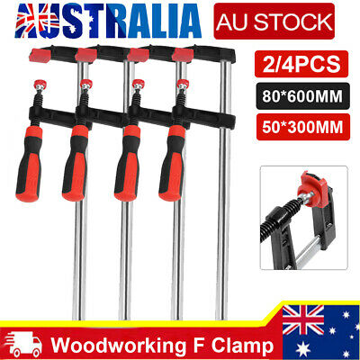 AU15.99 • Buy 2~4PCS 50*300mm Adjustable Woodworking F Clamp Clamps Quick Release Wood Tool