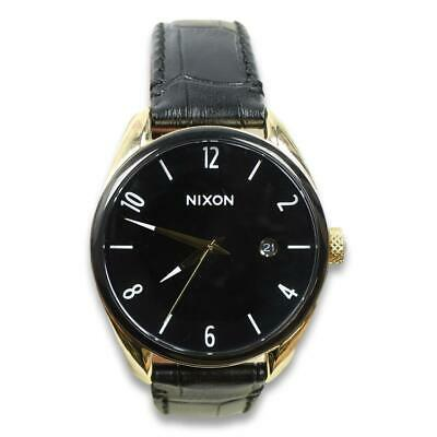 £49.19 • Buy Nixon Mens The Bullet Leather Watch Gold Black One Size New