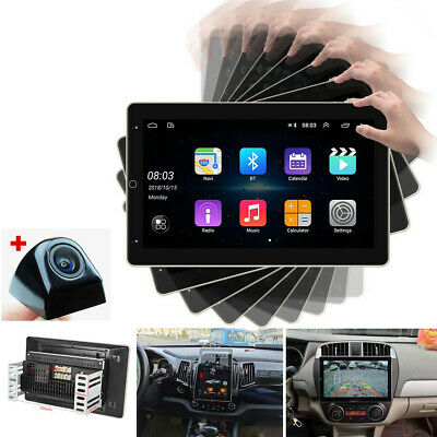 "AU302.12 • Buy 2 Din Android 9.1 10"" Rotate Car Stereo Radio GPS Wifi Bluetooth USB MP5 Player"