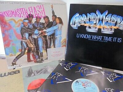 Grandmaster Flash - Collection Of 4 Original Vinyl 12  - 80's Hip Hop - B5 • 16.99£