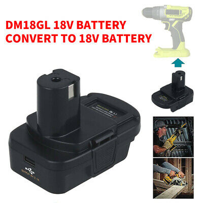 Battery Adapter Converter For Milwaukee Dewalt To RYOBI 18V Tools Li-ion Replace • 14.39£