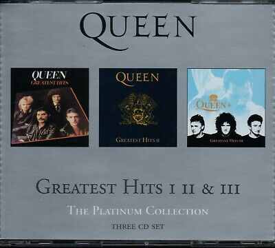 £7.24 • Buy QUEEN - The Platinum Collection (Greatest Hits 1, 2, 3) - 3xCD Album *Best Of*