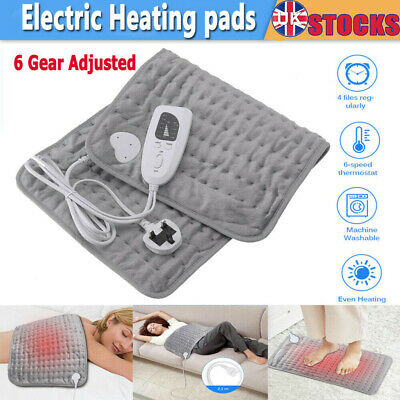 Therapeutic Electric Heat Pad Sooth Muscle Back Neck Pain Relief Full Body UK • 24.55£