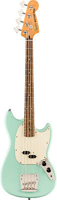 Squier Classic Vibe '60s Mustang® Bass, Laurel Board, Surf Green P/N 0374570557 • 339£
