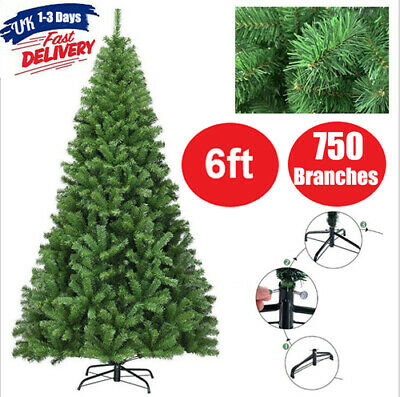 £22.78 • Buy Green Christmas Tree With Metal Stand Xmas Artificial Trees Decorations 6ft/1.8M