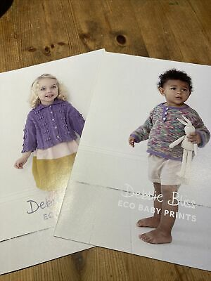 2 X Debbie Bliss Children's Patterns Using Eco Baby Yarn - DB066 And DB072 • 4.50£