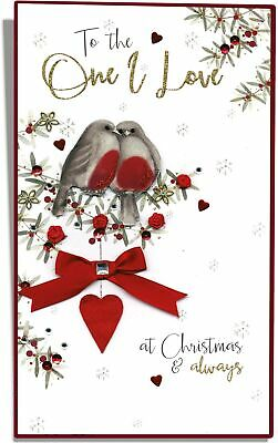 Boxed One I Love Luxury Lavish Keepsake Christmas Greeting Card • 9.99£