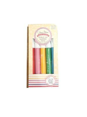 Jane Asher - Edible Ink Marker Pens 5 Colours For Cake Icing Decoration • 3.39£