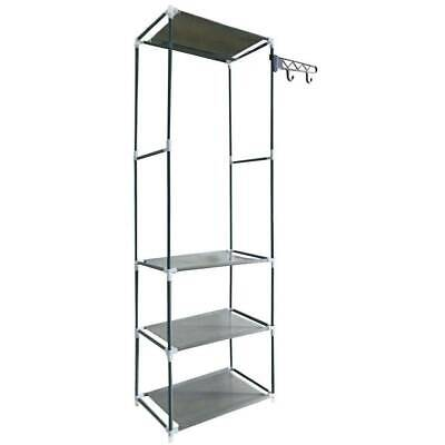 £9.99 • Buy Clothes Hanging Rail Clothing Coat Stand With Shoe Rack Shelf Bag Hook Organizer