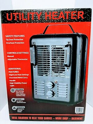 $26.20 • Buy Utility DQ1702 Milkhouse Style Electric Fan-Forced Space Heater - Black