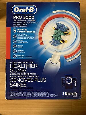 AU74.61 • Buy Oral-B Pro 5000 SmartSeries Rechargeable Electric Toothbrush **DAMAGED BOX**