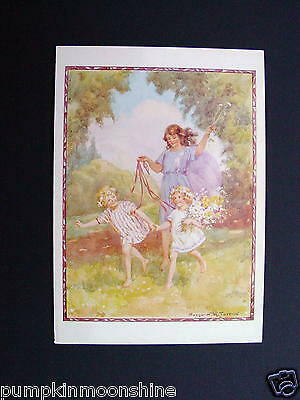 Unused Margaret Tarrant Greeting Post Card, 'Gee-Up', Medici Society, England • 14.47£