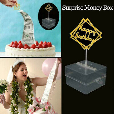 Cake ATM Funny Money Storage Box Cake Topper Decorations Surprise Gift  • 4.69£