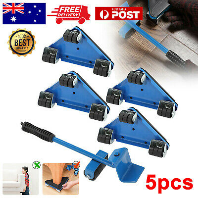 AU29.49 • Buy 5 Pcs Furniture Slider Lifter Moves Wheels Mover Kit Home Moving Lifting System