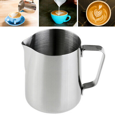 £6.99 • Buy  VORCOOL 350ml Milk Jug Frothing Steaming Pitcher Stainless Steel Coffee Pitcher