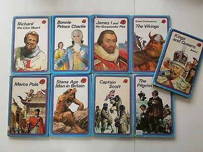 VINTAGE Set Of 9 Ladybird Books 'History' Series, Stories From History • 30£