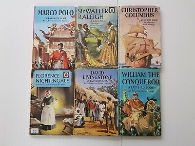 VINTAGE Set Of 6 Ladybird Books 'An Adventure From History' Series • 21£