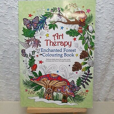 Art Therapy Enchanted Forest Colouring Book, Unicorns Fairy Fantasy Fairies • 4.99£