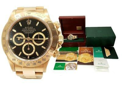 $ CDN49120.90 • Buy 40mm 18K YELLOW GOLD ROLEX DAYTONA 16528 ZENITH 1990 AUTOMATIC WATCH