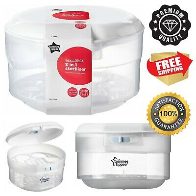 £23.99 • Buy Tommee Tippee Essentials Microwave Steriliser Up To 4 Bottles 4 Mins Quick Cycle