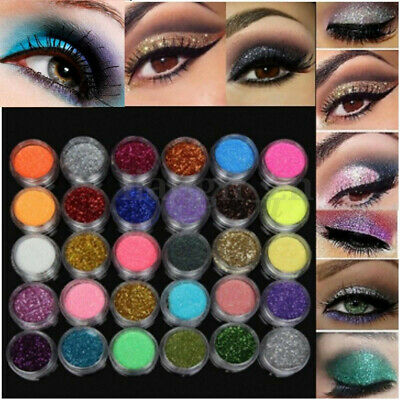AU11.99 • Buy 30pcsEyeshadow Powder Palette Makeup Loose Glitter Cosmetic Nail Pigment Set/Kit