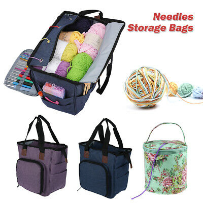 Knitting Storage Bag Case Wool Crochet Hooks Thread Sewing Kits Organizer Bag LS • 15.49£