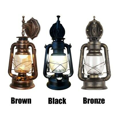 Retro Vintage Rustic Lantern Lamp Wall Sconce Garden Yard Outdoor Wall Light • 16.98£