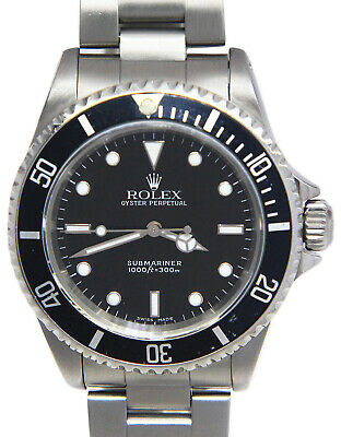 $ CDN11326.22 • Buy Rolex Submariner No Date Steel Black Dial/Bezel 40mm Watch Box/Papers P 14060