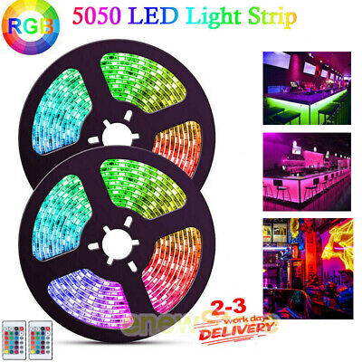 $13.67 • Buy 10/20ft Flexible Led Light Strip RGB 5050 SMD Remote Fairy Lights Room Party Bar