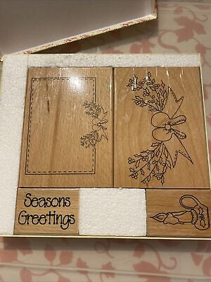 £6.95 • Buy Wooden Mounted Stamps Christmas Stamps Boxed...  New And Used By Home And Heart.