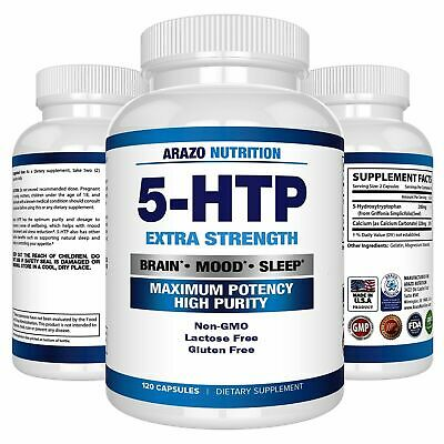 AU34.50 • Buy 5-HTP 200 Mg Supplement - 120 Capsules - Arazo Nutrition - New
