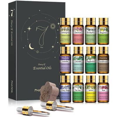 AU25.99 • Buy PHATOIL 12Pack Essential Oil Set 100% Pure Natural Therapeutic Grade Oils Gift