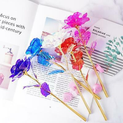 AU3.15 • Buy Gold Foil Rose Flower LED Luminous Galaxy Mother's Day Valentine's Day Gift