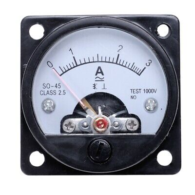 AU7.78 • Buy AC 0-3A Round Analog Panel Meter Current Measu Ammeter Gauge Black K2X9