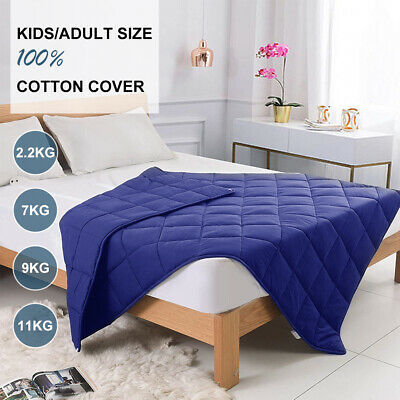 AU48.58 • Buy Weighted Blanket 100%Cotton Heavy Gravity Promote Deep Sleeping2.2/7/9/11KG,Navy