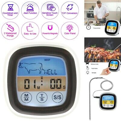 £6.95 • Buy Uk Digital Probe LCD Thermometer Temperature BBQ Cooking Meat Food Kitchen Oven
