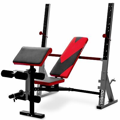 £249 • Buy Viavito Olympic Barbell Bench VX1000 GTR Adjustable Weightlifting Bench
