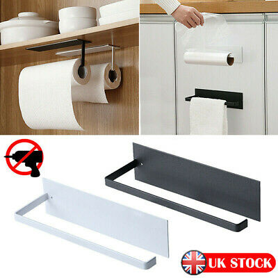 £6.79 • Buy Kitchen Paper Towel Rack Toilet Roll Holder Wall Mount Tissue Self-Adhesive