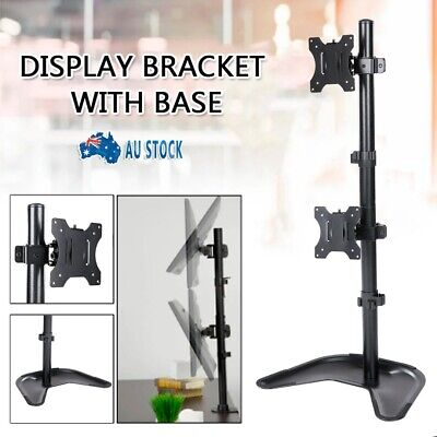 AU49.99 • Buy Dual 2 LCD Monitor 13 - 27  Vertical Mount Computer Screen Desktop Stand VESA