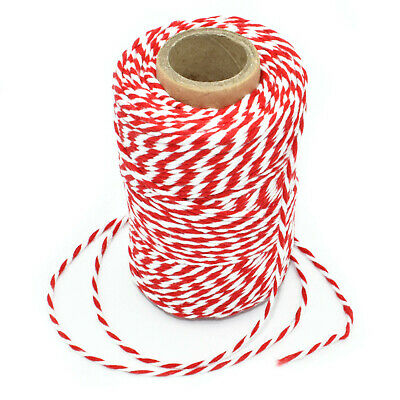 £4.59 • Buy Beautiful Christmas Candy Cane Bakers Twine Red And White String Cord Butchers