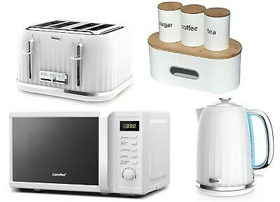 £239.99 • Buy Breville Impressions Toaster & Kettle Set Microwave COMFEE Storage Set - WHITE