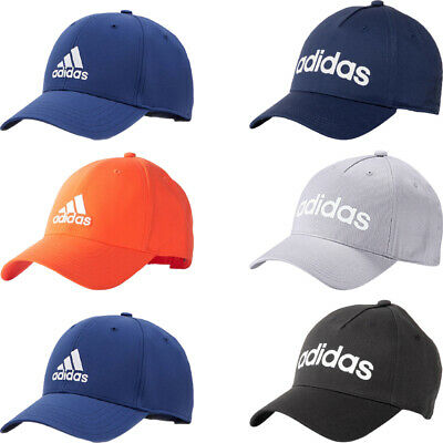 Adidas Mens Baseball Caps Adjustable Hat Sports Training Golf Cap Black White • 9.99£